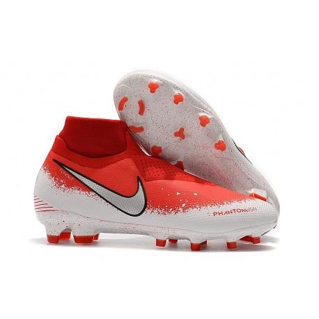Fotbollsskor för Herr Nike Phantom Vsn Elite DF FG - Röd Vit Silver