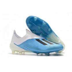 adidas X 18+ FG Fotbollsskor för Herrar - Blå Vit Svart