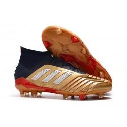 Fotbollsskor adidas Predator 19.1 FG för Herrar - Guld Röd Silver