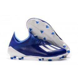 Fotbollsskor adidas X 19.1 FG Blå Vit