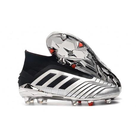 adidas Predator 19+ FG Fotbollsskor Herr Silver Svart
