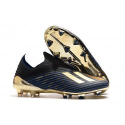 Fotbollsskor för Herrar ADIDAS X 19+ FG Svart Blå Guld