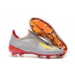 Fotbollsskor för Herrar ADIDAS X 19+ FG Redirect Pack Silver Röd