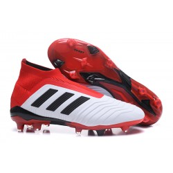 Fotbollsskor Adidas Predator 18+ FG för Herrar - Vit Röd Svart