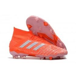 Fotbollsskor adidas Predator 19.1 FG för Herrar - Orange Vit