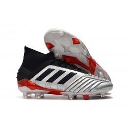 Fotbollsskor adidas Predator 19.1 FG för Herrar - Silver Svart Röd