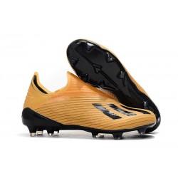 Fotbollsskor för Herrar ADIDAS X 19+ FG Orange Svart