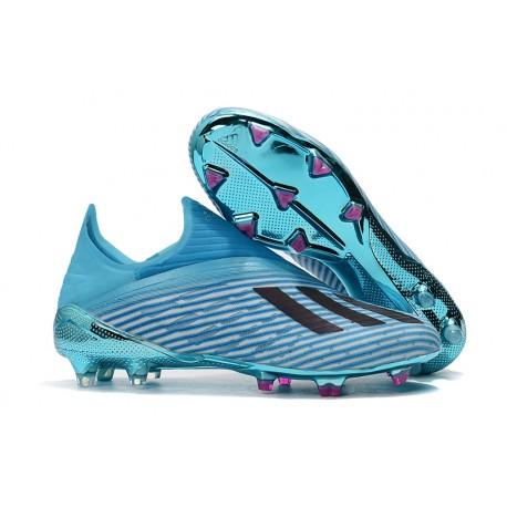 Fotbollsskor för Herrar ADIDAS X 19+ FG Cyan Svart