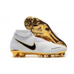 Fotbollsskor Nike Phantom Vision Elite Dynamic Fit FG - Vit Guld