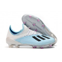 Fotbollsskor adidas X 19.1 FG Vit Blå Svart