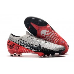 Nike Mercurial Vapor 13 Elite FG Fotbollsskor för Neymar Krom/Svart/Röd