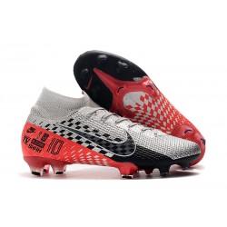 Nike Mercurial Superfly VII Elite FG Neymar Chrom Czarny Czerwony Platyna