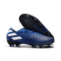 Fotbollsskor för Män adidas Nemeziz 19.1 FG - Blå Vit