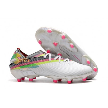 Fotbollsskor för Män adidas Nemeziz 19.1 FG - Vit Flerfärgad