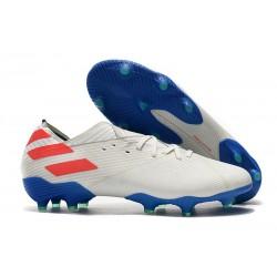 Fotbollsskor för Män adidas Nemeziz 19.1 FG - Vit Blå Röd