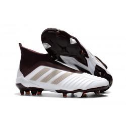 Fotbollsskor Adidas Predator 18+ FG för Herrar - Vit Brun