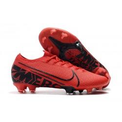 Nike Mercurial Vapor 13 Elite FG Fotbollsskor för Män - Röd Svart