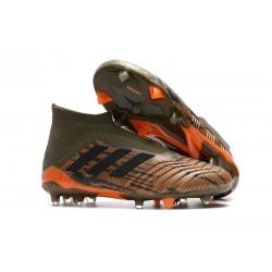 Fotbollsskor Adidas Predator 18+ FG för Herrar - Grön Orange Svart