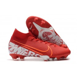 Nike Mercurial Superfly VII Elite FG Röd Vit
