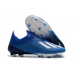 Fotbollsskor för Herrar ADIDAS X 19+ FG Blå Vit