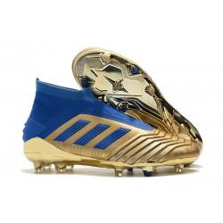 adidas Predator 19+ FG Fotbollsskor för Herrar - Guld Blå
