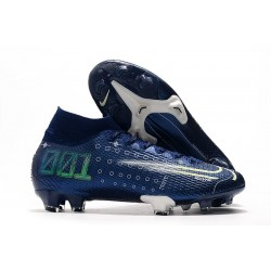 Nike Dream Speed Mercurial Superfly VII Elite FG Blu Bianco