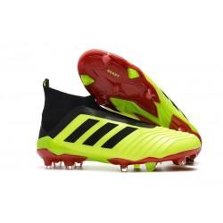 Fotbollsskor Adidas Predator 18+ FG för Herrar - Gul Svart Röd