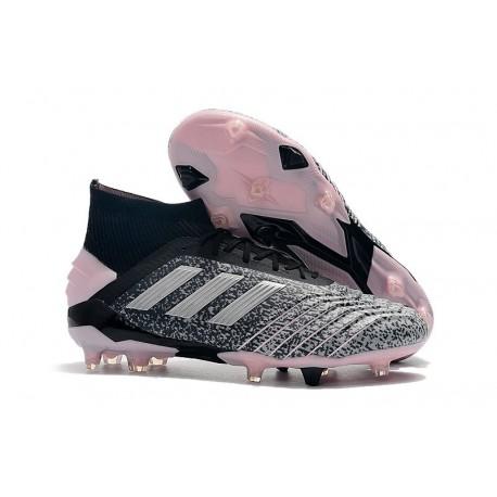 adidas Predator 19+ FG Fotbollsskor för Herrar - Svart Grå Rosa