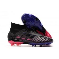adidas Predator 19+ FG Fotbollsskor för Herrar - Svart Blå Rosa