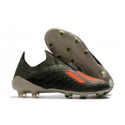 Fotbollsskor för Herrar ADIDAS X 19+ FG Grön Orange