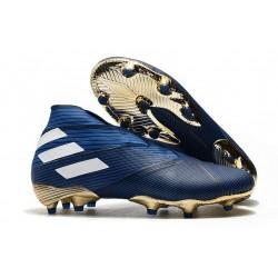 adidas Fotbollsskor för Män Nemeziz 19+ FG Blå Vit Svart