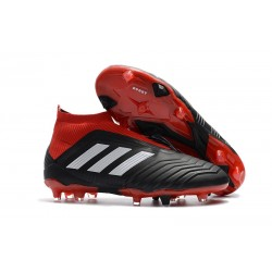 Adidas Fotbollsskor för Män Predator 18+ FG - Svart Röd Vit
