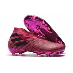 adidas Fotbollsskor för Män Nemeziz 19+ FG Rosa Svart