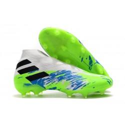 adidas Fotbollsskor för Män Nemeziz 19+ FG Vit Grön Blå