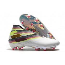 adidas Fotbollsskor för Män Nemeziz 19+ FG Vit Svart Silver