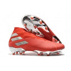 adidas Fotbollsskor för Män Nemeziz 19+ FG Röd Silver