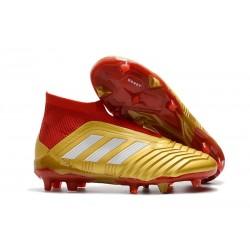 Adidas Fotbollsskor för Män Predator 18+ FG - Guld Röd