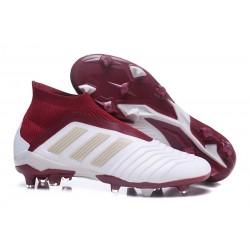 Adidas Fotbollsskor för Män Predator 18+ FG - Vit Röd