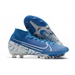 Nike Mercurial Superfly 7 Elite AG-PRO Blå Vit