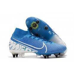 Nike Mercurial Superfly VII Elite SG-PRO Anti Clog New Lights Blå Vit