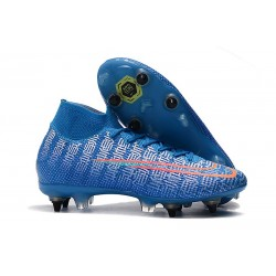 Nike Mercurial Superfly VII Elite SG-PRO Anti Clog Blå Röd