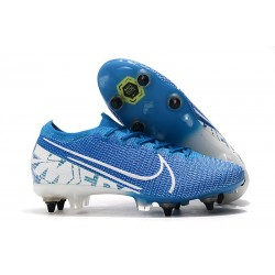 Nike Mercurial Vapor XIII Elite SG-PRO Anti-Clog New Lights Blå Vit