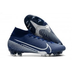 Nike Mercurial Superfly 7 Elite SE FG -Blå Vit