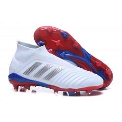 Adidas Fotbollsskor för Män Predator 18+ FG - Telstar Vit Silver Röd