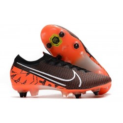 Nike Mercurial Vapor XIII Elite SG-PRO Anti-Clog Svart Orange Vit