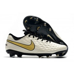 Nya Fotbollsskor Nike Tiempo Legend VIII FG Vit Guld Svart