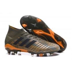 adidas Predator 18.1 FG Fotbollsskor för Män - Grön Orange Svart