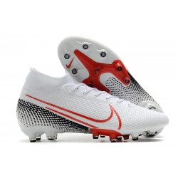 Nike Mercurial Superfly 7 Elite AG-PRO Vit Röd