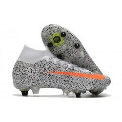 Nike Mercurial Superfly 7 Elite SG DF AC -CR7 Safari-Vit Orange Svart