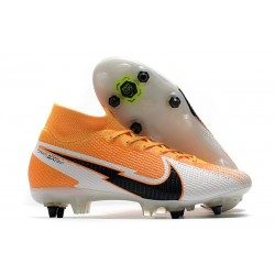 Nike Mercurial Superfly 7 Elite SG DF AC -Daybreak - Orange Svart Vit